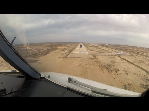 Landing at Djerba (DJE) Tunisia - RWY09 (Cockpit View)