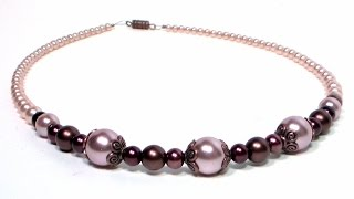Elegant Glass Pearl Necklace Easy Tutorial (Perfect for Weddings, Flower Girls & Special Occasion!)