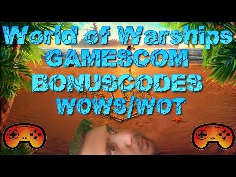 Gamescom Bonuscodes für World of Warships/Tanks - Deutsch/German - World of Warships