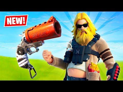 NEW UPDATE!! Flare Gun Gameplay! (Fortnite Season 3)
