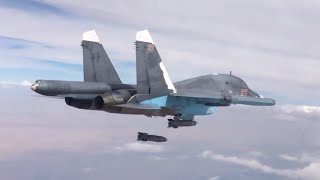 Combat-cam series: Russian jets bomb ISIS-held fortifications