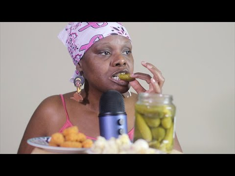 TANGY Pickles \u0026 Nuggets ASMR Eating Sounds