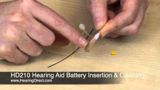HD210 Hearing Aid Battery Insertion and Cleaning