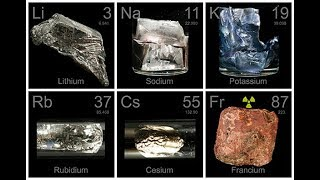 Reaction of Francium (alkali metal) with water