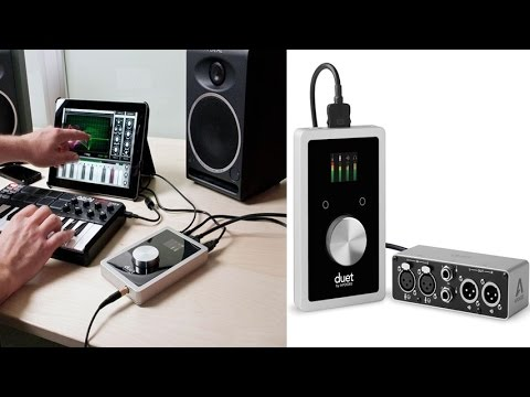 apogee duet professional stereo audio interface for ipad and mac with breakout box bundle youtube. Black Bedroom Furniture Sets. Home Design Ideas
