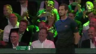 Andy Murray gives match point to BallBoy (vs Roger Federer)