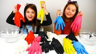 ΜΗΝ ΔΙΑΛΕΞΕΙΣ ΛΑΘΟΣ ΓΑΝΤΙ SLIME CHALLENGE/ don't choose the wrong glove slime challenge #ARIADNISTAR