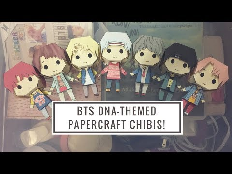 DIY BTS DNA-themed Papercraft Chibis
