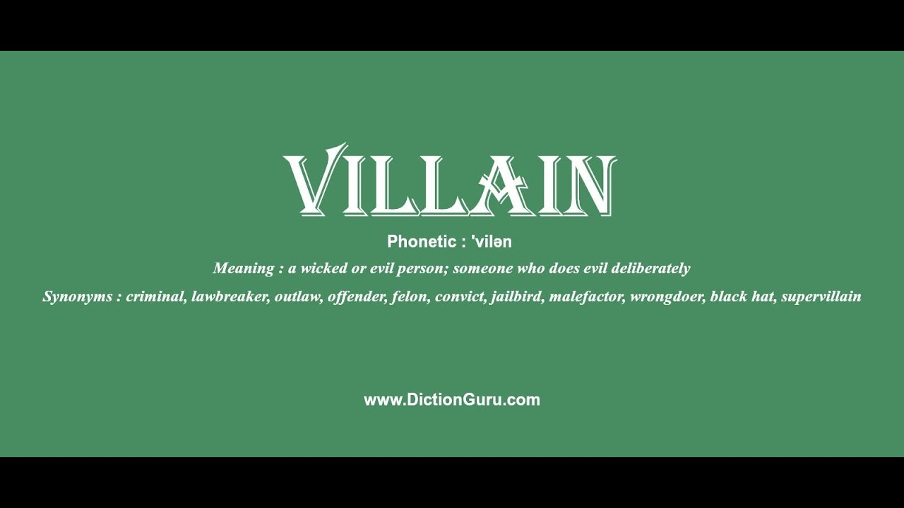 Villain Meaning