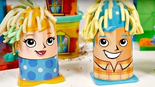 Play Doh. Videos for kids on #GirlsTToyZZ. Play Doh crazy cuts. Play Doh family at the fire station.