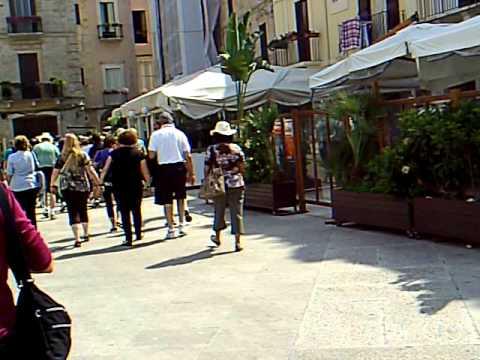 The street of Bari, Italy
