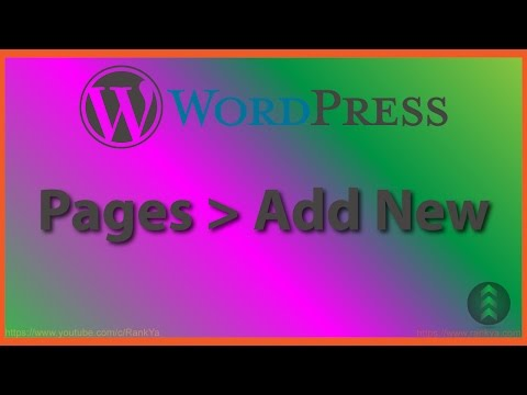 WordPress Pages - Add New Page - 동영상