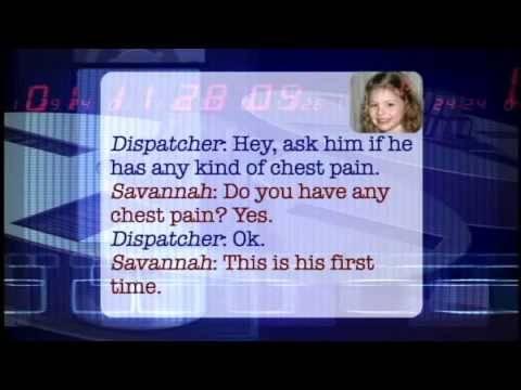 5-year-old Savannah's Calm Call with 911 - THE BONNIE HUNT SHOW