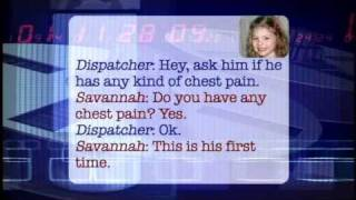 5-year-old Savannah's Calm Call with 911 - THE BONNIE HUNT SHOW