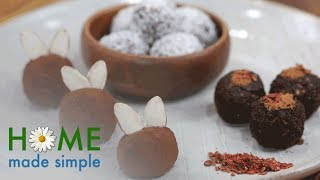 Cocoa-Dusted Chocolate Truffles | Home Made Simple | Oprah Winfrey Network