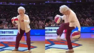 'Granny' Fools New York Crowd With Incredible Basketball Tricks