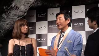 ソニー、バイオ新製品発表のキックオフイベントにおける石田純一さん、...