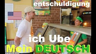 AMERICAN tries to speak GERMAN at Subway!