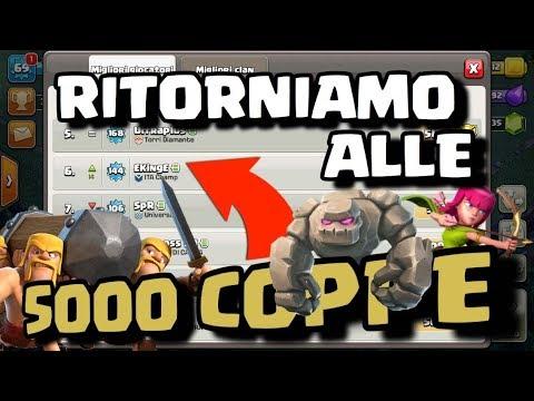 Download Youtube: TORNIAMO A 5000 COPPE IN LIVE | SPERIAMO DI NON CADERE DI NUOVO NEL DROP | TOP ITA CLASH OF CLANS