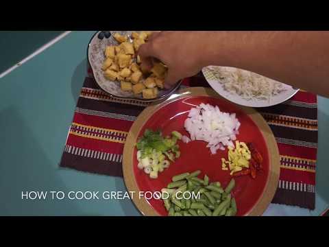 🍚🍅 🍆 Chinese Tofu Fried Rice Recipe  - Vegan Vegetarian Wok