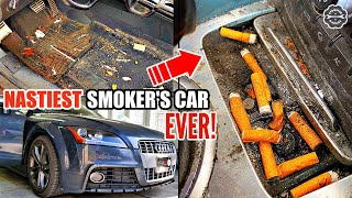 Deep Cleaning Disaster Car Detailing Transformation An Audi TT - The NASTIEST Smoker's Car Ever!
