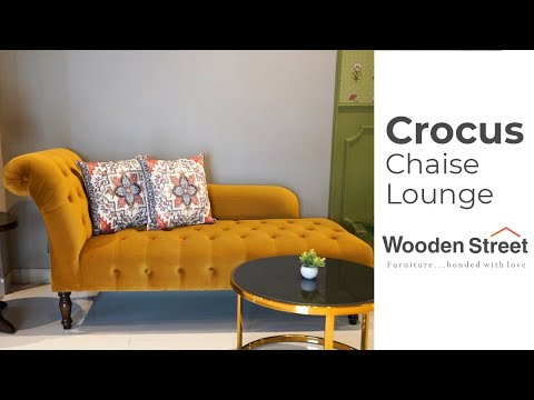 Living Room Chaise Lounge Sofa | Crocus Chaise Lounge Chair Design By Wooden Street