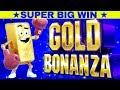 COMEBACK ★SUPER BIG WIN★ Gold Bonanza Slot Machine Bonus | Over 100x | Max Bet Live Slot Play