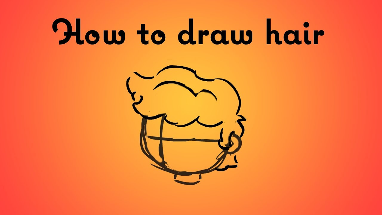 draw cartoon hair