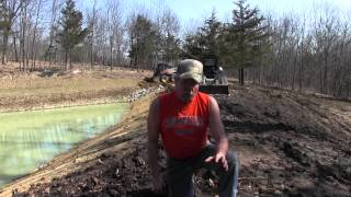 2015 Repairing the Pond and making another Food Plot