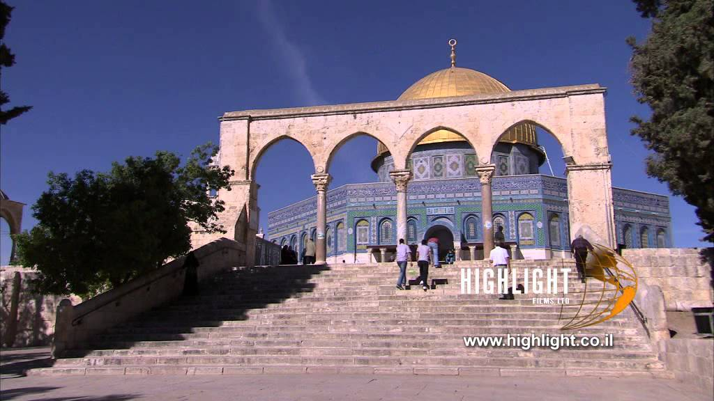 Jerusalem stock footage library: Al Aqsa mosque and Dome of the Rock  Jerusalem