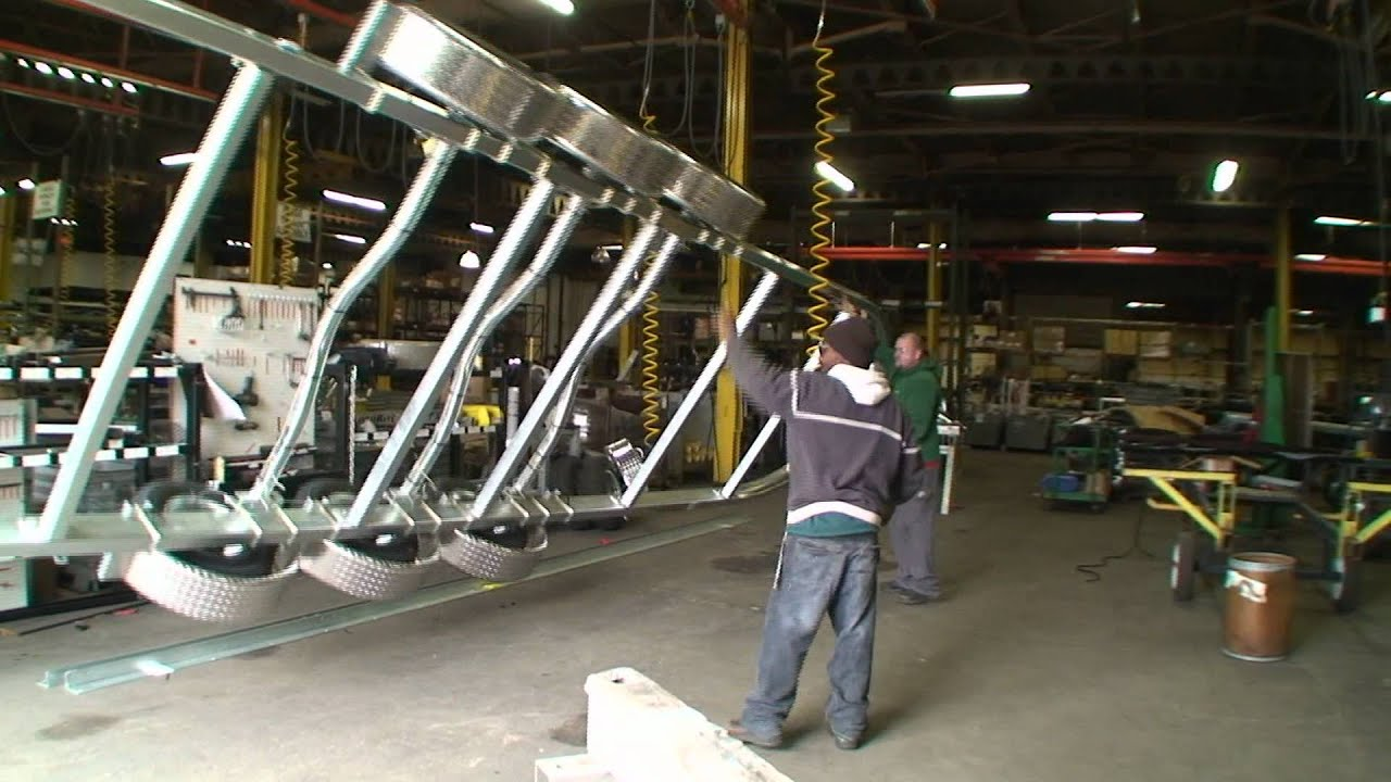 Trailer Construction for Durham Boats by LoadRite Trailers - YouTube
