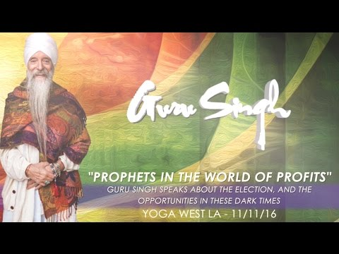 Prophets In The World Of Profits - Guru Singh speaks about the election, and the opportunities