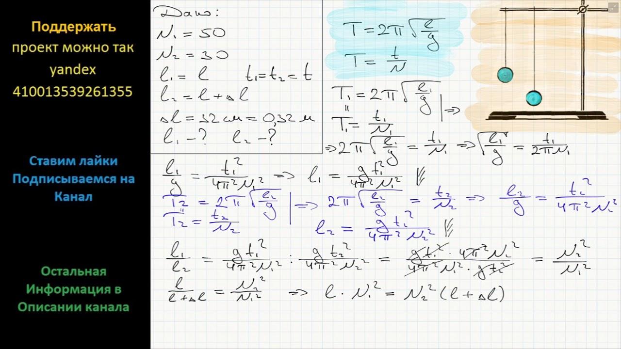 Решение задач пружинный и математический маятник четыре замечательных точки решение задач