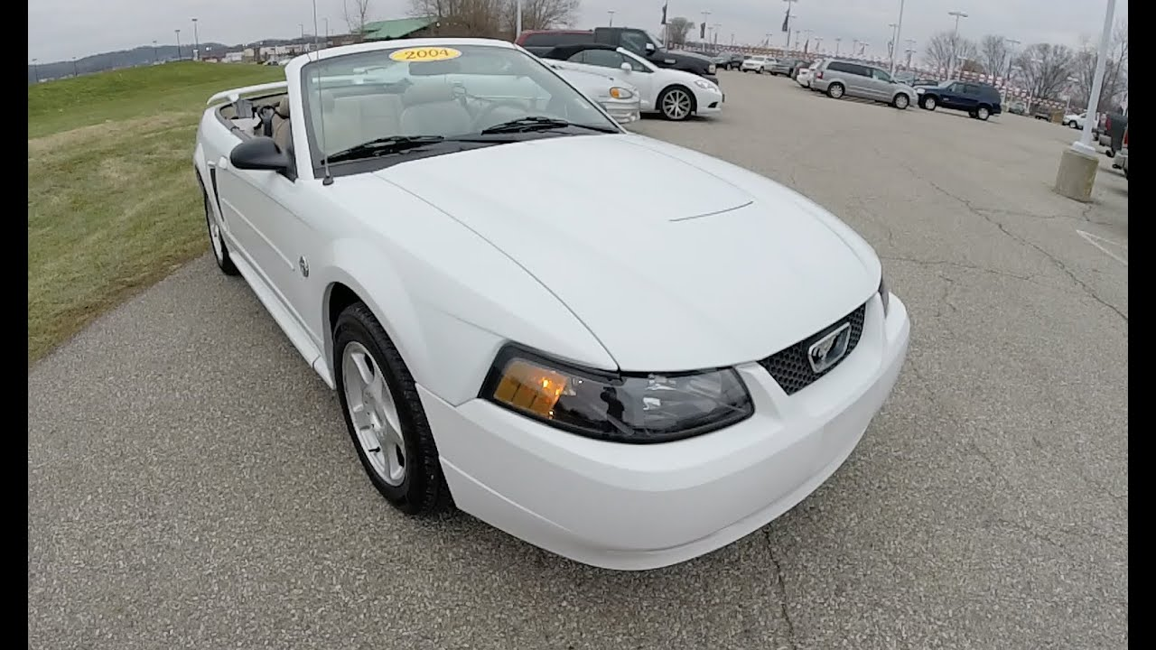 2004 ford mustang 40th anniversary convertible white p9911a