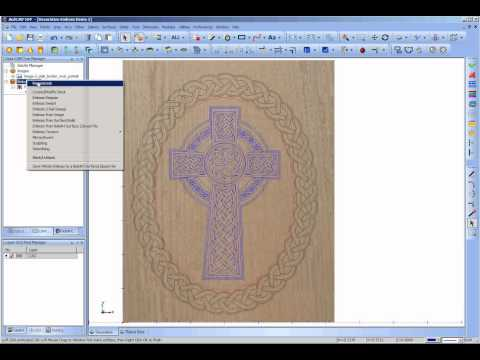 Decorative Wood Carving using BobArt: Part2; Assembling the geometry and Embossing