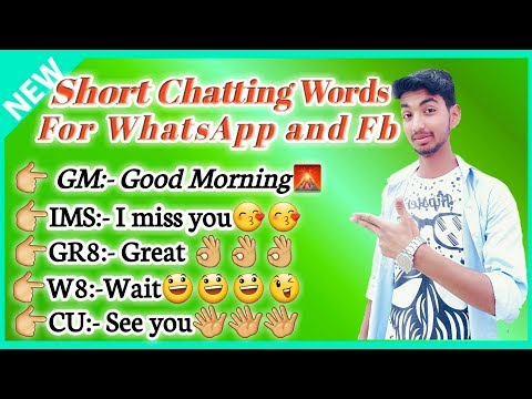 Short Chatting Words For WhatsApp And Facebook| Whatsaap Short Chatting कैसे करे| Short Chatting