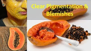 Papaya Facial(पपीता फेसिअल) At Home To clear Pigmentation, blemishes and acne breakouts