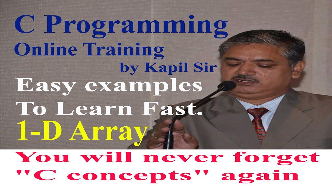 1-D Array in C programming   Kapil Dev Sharma