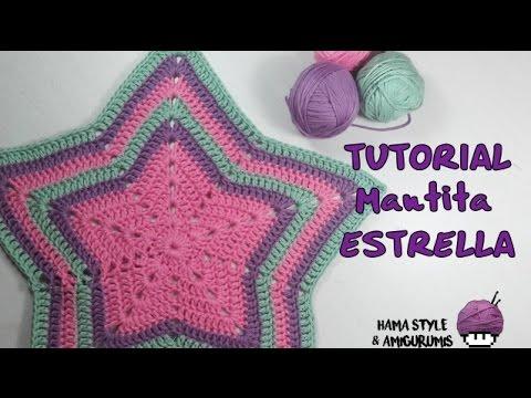 TUTORIAL] Mantita estrella a crochet + patrón - YouTube