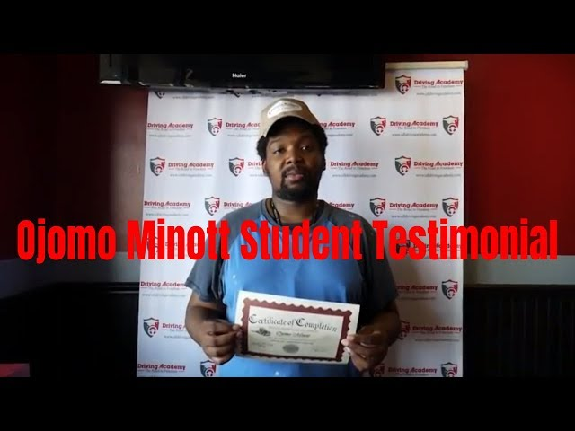 Student Testimonial - Ojomo Trained at the BEST CDL School in the Country - Driving Academy