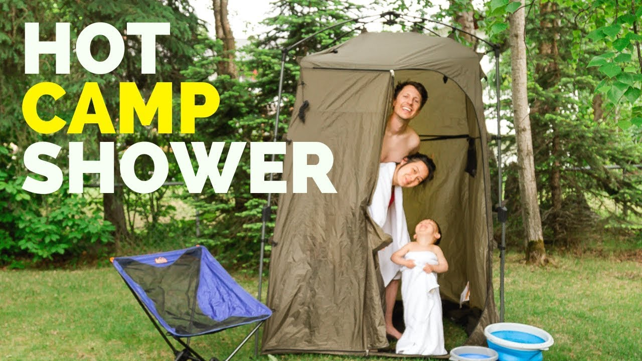 our portable shower for camping hot h20 solution for less than 40