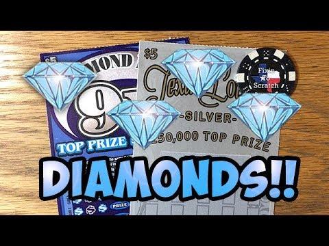 💰💎 WINNER!! Texas Lottery Silver ✦ Diamond Mine 9X! ✦ TEXAS LOTTERY  SCRATCH OFF TICKETS