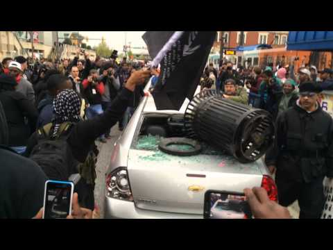 Police Confront Baltimore Protesters at Freddie Gray Rally