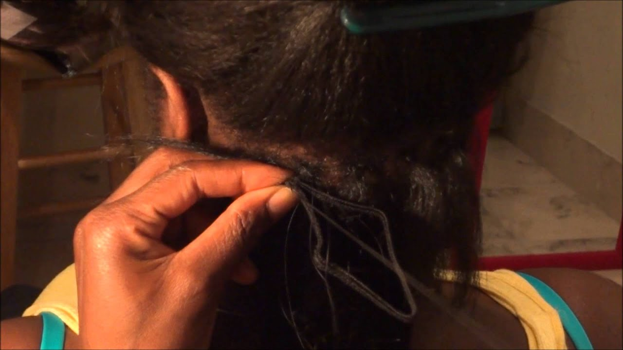 Bead Sew In Hair Extensions African American Hair By Rubyruby Youtube
