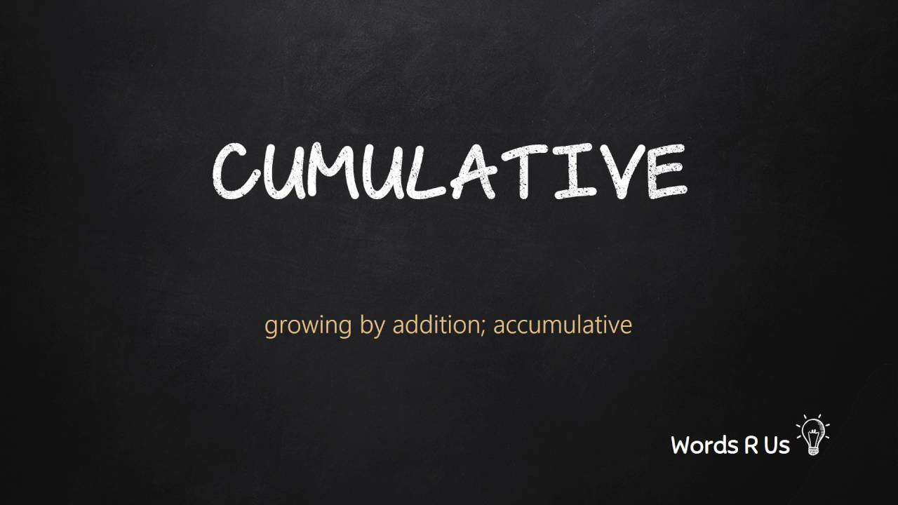 How to Pronounce CUMULATIVE in American English