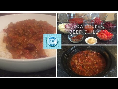 Slow Cooker Beef Chilli 😊 Perfect Every Time! Recipe & Cook With Me