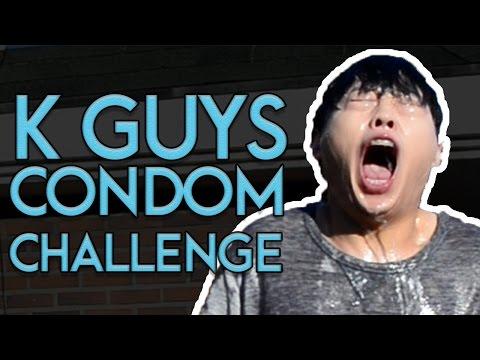 KOREAN GUYS CONDOM CHALLENGE!