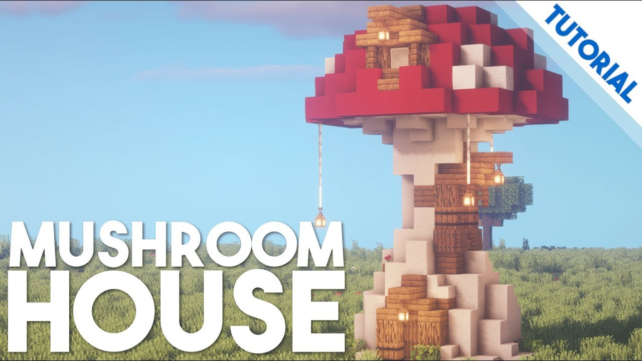 How To Build A Mushroom House Minecraft 1 14 Tutorial Youtube