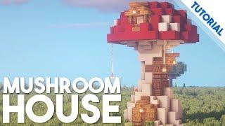 How to Build a Mushroom House Minecraft 1 14 Tutorial YouTube