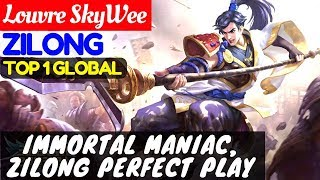 Immortal Maniac, Zilong Perfect Play [Top 1 Global Zilong] | Louvre SkyWee Zilong Gameplay#12